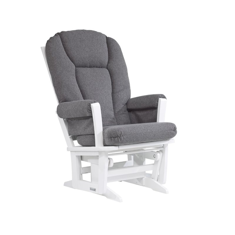 Dutailier glider in dark gray and white d00 64h 60 3128 for Chaise dutailier