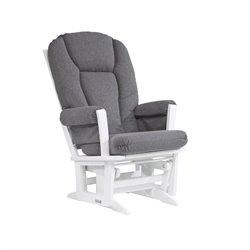 Dutailier Glider in Dark Gray and White
