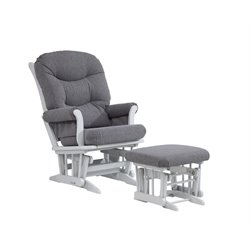 Dutailier Glider and Ottoman Set in Dark Gray
