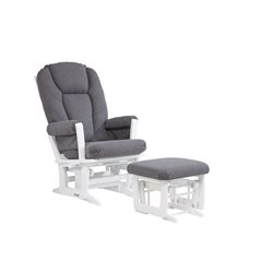 Dutailier Multiposition Glider and Ottoman Set in Gray