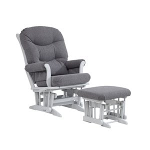 Dutailier Multiposition Glider and Nursing Ottoman in Gray