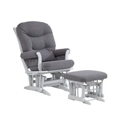 Dutailier Ultramotion Multiposition Glider and Nursing Ottoman in Gray