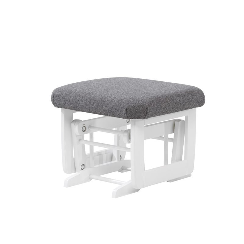 Dutailier modern gliders ottoman in dark gray and white for Chaise dutailier