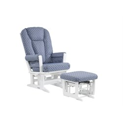 Dutailier Ultramotion Multiposition Glider and Ottoman in Denim