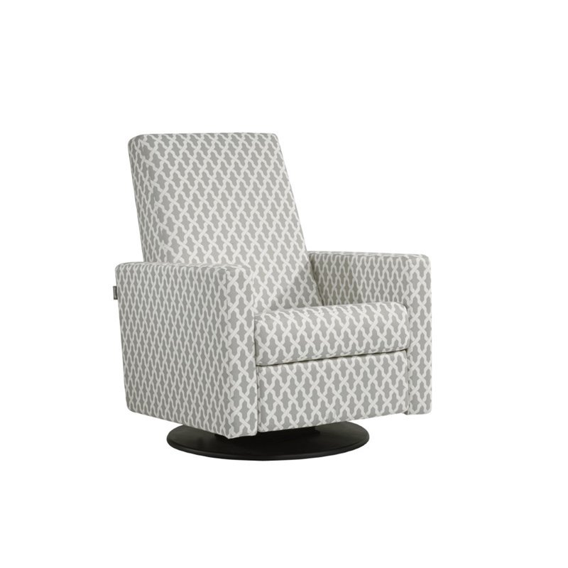 Dutailier upholstered swivel glider with built in footrest for Chaise dutailier
