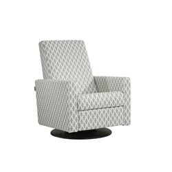Dutailier Upholstered Swivel Glider with Built-in Footrest