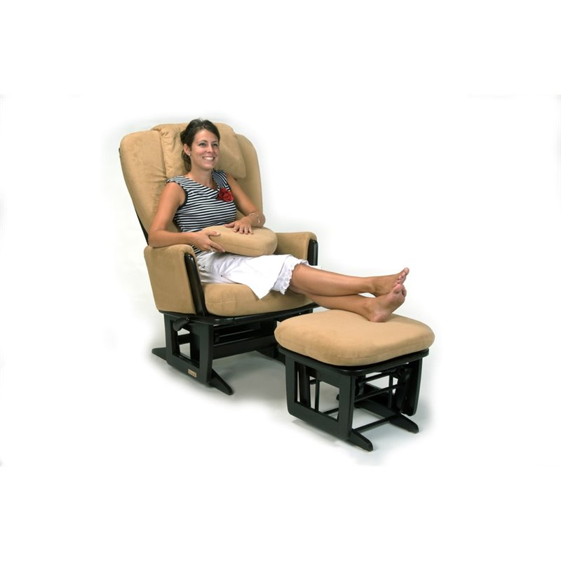 Dutailier nursing glider with built in feeding pillows for Chaise dutailier