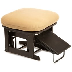 Dutailier Nursing Ottoman in Espresso and Camel