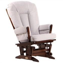 ULTRAMOTION by Dutailier 2 Post Glider in Coffee and Light Grey Fabric