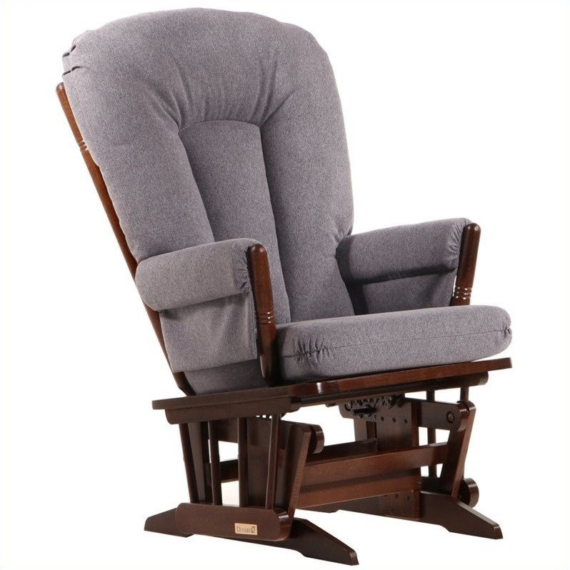 Dutailier colonial glider in coffee and dark gray d00 for Chaise dutailier