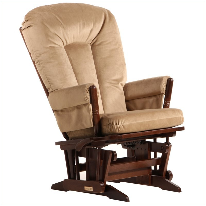 2 Post Glider and Recline in Coffee and Light Brown