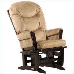 Dutailier Modern Glider and Recline in Espresso and Light Brown