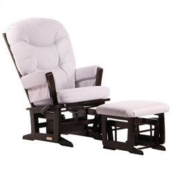 Dutailier Modern Glider and Ottoman Set in Espresso 4