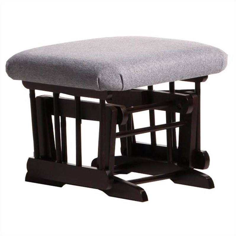 ULTRAMOTION by Dutailier Espresso  Ottoman For Sleigh and 2 Post Gliders in Dark Grey