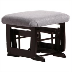 ULTRAMOTION by Dutailier Ottoman For Modern Gliders in Espresso and Dark Grey Fabric