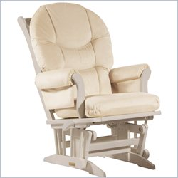 Dutailier Sleigh Glider/Recliner/Multiposition in Light Beige