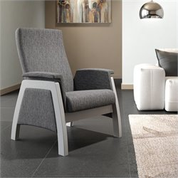 ULTRAMOTION by Dutailier California Urban Glider in Ash Grey with Grey Finish