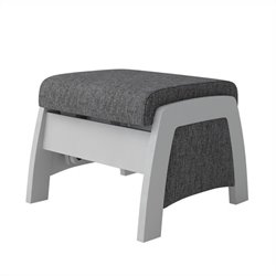 Dutailier California Urban Ottoman in Ash Grey with Grey Finish