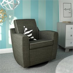 ULTRAMOTION by Dutailier Mocha Upholstered Swivel Glider in Dolphin Grey