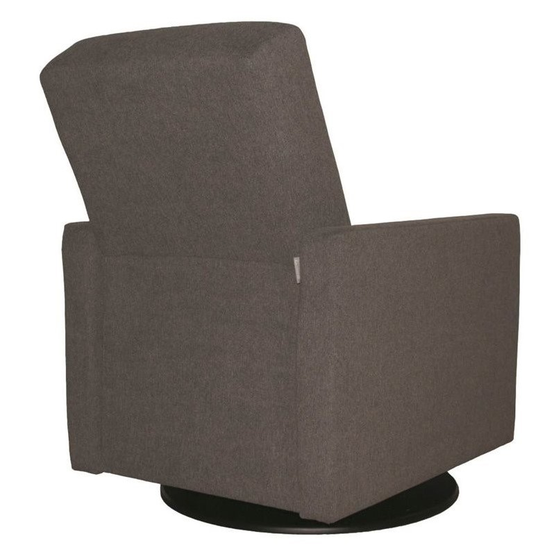 Dutailier lungo swivel glider in dark gray d03 194 15 3128 for Chaise dutailier
