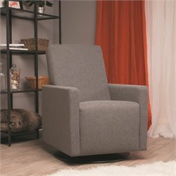 Dutailier LUNGO Swivel Glider in Dark Gray