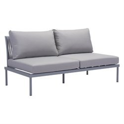 Zuo Sand Beach Outdoor Sofa in Gray