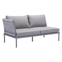 Zuo Sand Beach Outdoor Left Hand Chaise Lounge in Gray