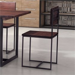 ZUO Papillion Dining Chair in Distressed Cherry Oak (Set of 2)