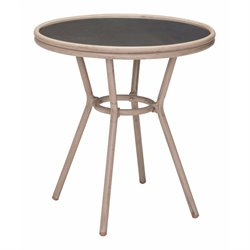 ZUO Mareilles Outdoor Pub Table in Dark Brown