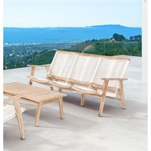 ZUO West Port Outdoor Sofa in White Wash and White