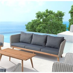 ZUO Grace Bay Outdoor Sofa in Natural and Gray