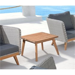 ZUO Grace Bay Square Patio End Table in Natural