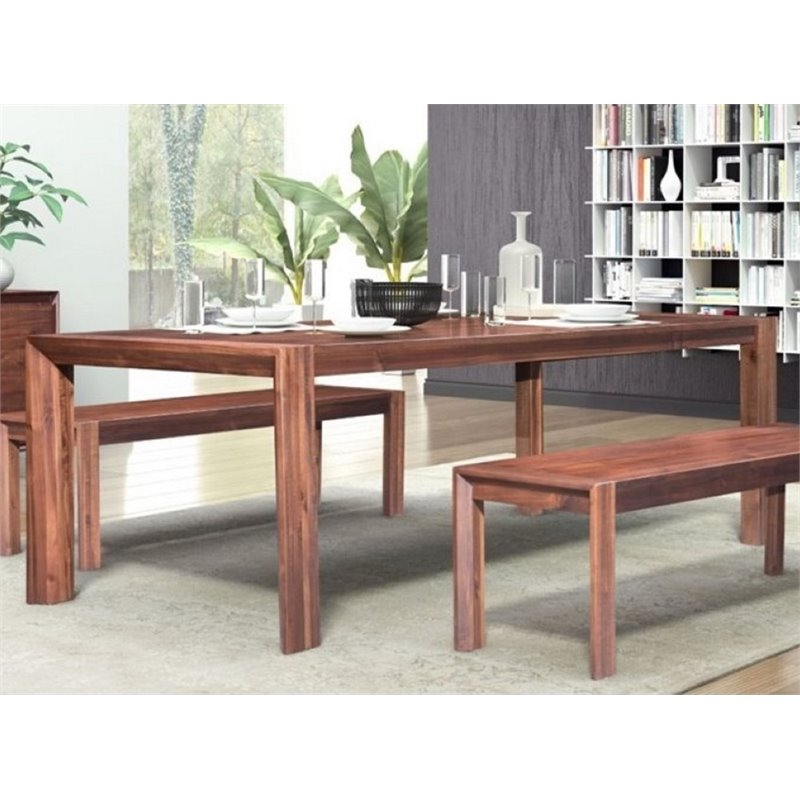 Zuo Perth Extendable Dining Table In Chestnut 100588