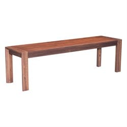 ZUO Perth Dining Bench in Chestnut