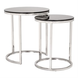 ZUO Rem 2 Piece Nesting Table Set in Black
