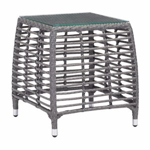 Zuo Trek Patio End Table in Gray and Beige