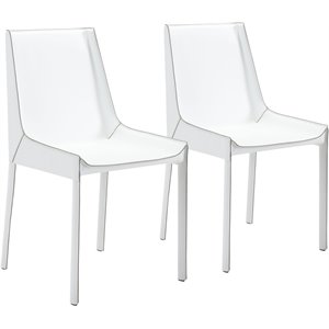 Zuo Fashion Dining Chair in White (Set of 2)