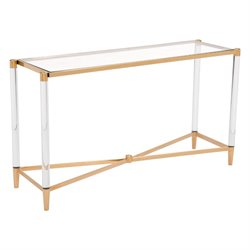 Zuo Existential Console Table in Gold