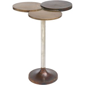 Zuo Dundee Accent Table in Antique Brass