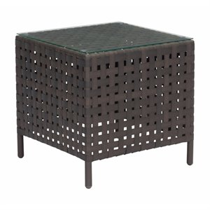 Zuo Pinery Patio End Table in Brown