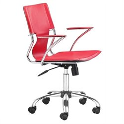 Zuo Trafico Office Chair in Red