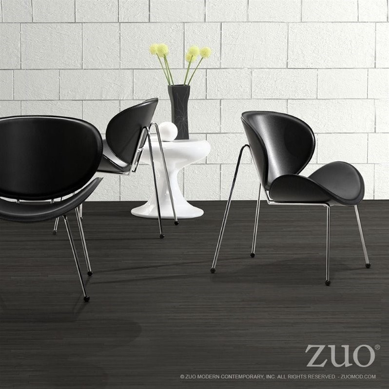 Zuo Match Faux Leather Accent Chair in Black