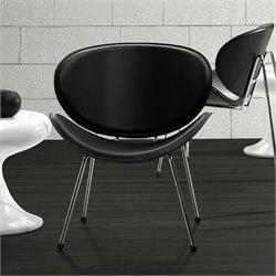 Zuo Match Chair in Black - Black