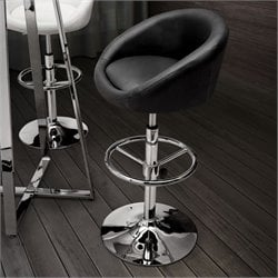 Zuo Concerto Height Adjustable Bar Stool - Black