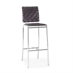 Zuo Criss Cross Bar Stool Strap Back - Espresso