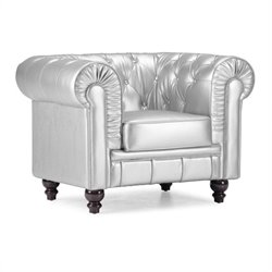 Zuo Aristocrat Armchair in Silver