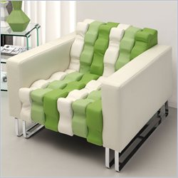 Zuo Ripple Faux Leather Club Chair in White and Green