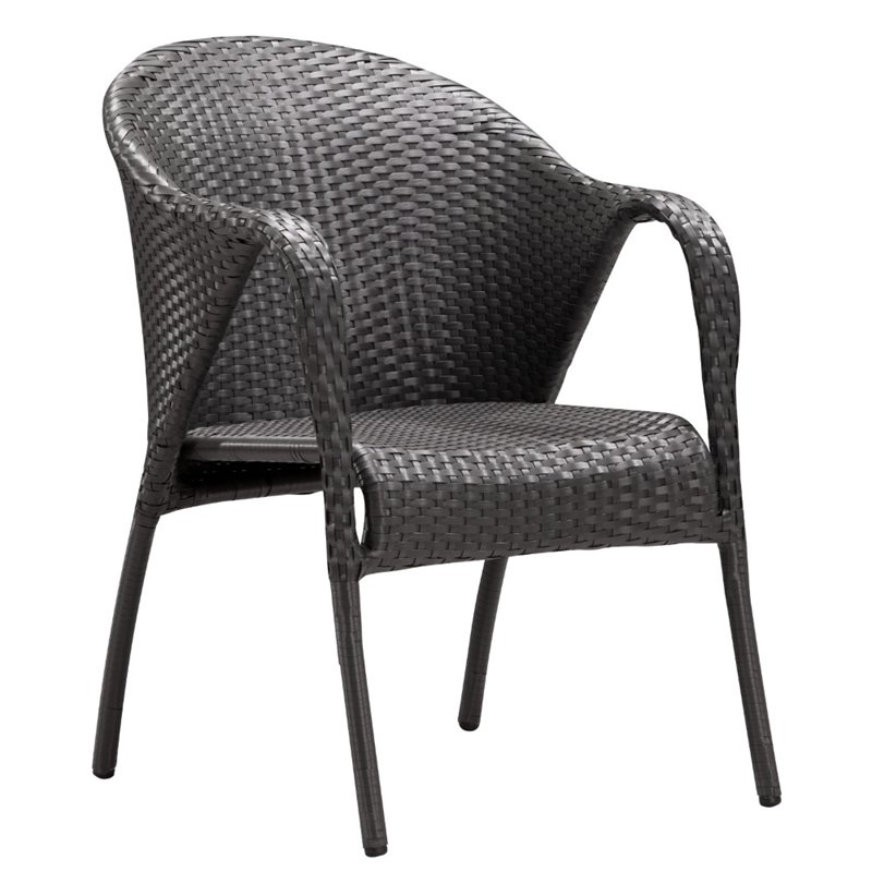 ZUO Montezuma Patio Dining Chair in Espresso (Set of 2)