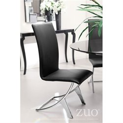 Zuo Delfin Dining Chair in Black