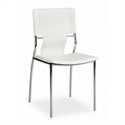 Zuo Trafico  Dining Chair in White